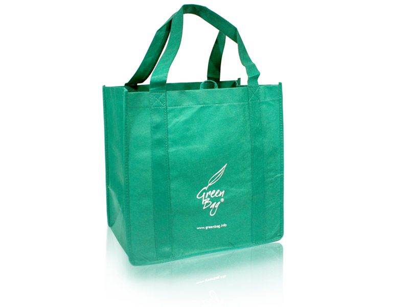 Reusable Green Shopping Bags | Green Bag logo NWPP Bag | Green Bag ...